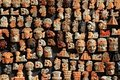 Mayan Mexico wood handcrafts in jungle Royalty Free Stock Image
