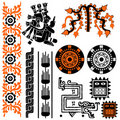 Mayan patterns Stock Images
