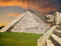 Mayan pyramid mexico chichen itza serpent snake ruins yucatan Stock Photography