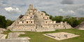 Mayan pyramids Edzna. Yucatan, Campeche, Royalty Free Stock Photo
