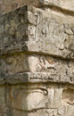 Mayan Ruin Detail at Tulum Royalty Free Stock Photo