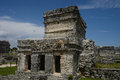 Mayan ruins in tulum cozumel of mexico Royalty Free Stock Photo
