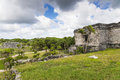 Mayan ruins in tulum the national park of and one of the ebautiful rins visible inside Royalty Free Stock Photo