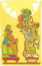 Mayan Sacrifice and Vision Serpent Royalty Free Stock Photo