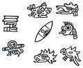 Mayan symbols, great artwork for tattoos Stock Photography