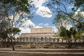 Mayan temple in chichen itza mexico Royalty Free Stock Photos