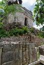 Mayan Temple in Kabah Yucatan Mexico Royalty Free Stock Photo