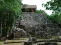 Mayan temple ruins of a in coba mexico Stock Images