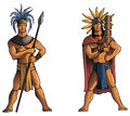 Mayan warriors two of south america aztec or inca vector illustration Royalty Free Stock Image