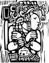 Mayan Woodcut Style 3 Royalty Free Stock Photos