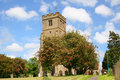 Mayflower Tree in Old English Churchyard Royalty Free Stock Photo