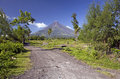Mayon volcano mount albay bicol luzon philippine islands viewed from the destroyed village of cagsawa a stratovolcano Royalty Free Stock Photography