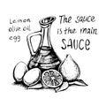 Mayonnaise cold sauce
