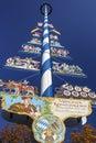 Maypole at Viktualienmarkt in Munich, Germany, 2015