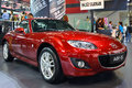 Mazda mx a red in auto show guangzhou Royalty Free Stock Image