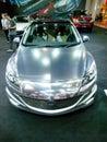 Mazda new thrilling concept bangkok thailand jun th on display at bangkok international auto salon at challenger hall impact muang Stock Photography