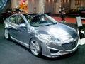 Mazda new thrilling concept bangkok thailand jun th on display at bangkok international auto salon at challenger hall impact muang Royalty Free Stock Photo