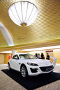 Mazda RX-8 coupe on display Stock Photos