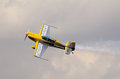 Mazda zoom zoom pretoria south africa may aerobatic display with an extra l seen during the time aviation saaf museum airshow on Stock Image
