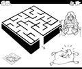 Maze activity game with cinderella