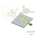 Maze business infographic Arkivfoton
