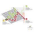 Maze business infographic Royaltyfria Bilder