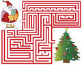 Maze a christmas for children game Royalty Free Stock Image