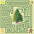 Maze a christmas for children game Stock Photography
