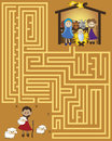 Maze a christmas for children game Royalty Free Stock Photography