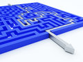 Maze concept Royalty Free Stock Photo