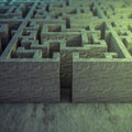 Maze d rendered image of a with depth of field effect Royalty Free Stock Photography