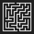 Maze Game background. Labyrinth with Entry and Exit.