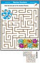Maze game with bees and flowers