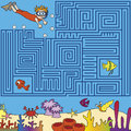Maze game for children find the right way Stock Image