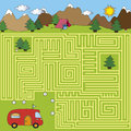 Maze game for children find the right way Royalty Free Stock Images
