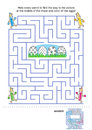 Maze game and coloring page for kids Royalty Free Stock Photography