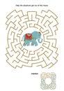 Maze game with elephant