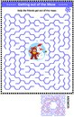 Maze game with teddy bear and snowman