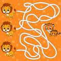 Maze. Game for kids. Funny labyrinth. Education developing worksheet. Activity page. Puzzle for children. Cute cartoon style.
