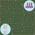 Maze game for kids, hare and carrot