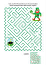 Maze game leprechaun and pot of gold st patrick s day themed or activity page can you find the secret way to the secret place Stock Image