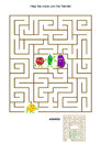 Maze game with onion and his vegetable friends
