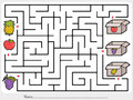 Maze game: Pick fruits box - Sheet for education