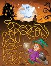 Maze 6 with Halloween theme Royalty Free Stock Photo
