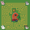 Maze illustration with game for children Stock Images