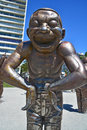A maze ing laughter vancouver bc canada june is bronze sculpture by yue minjun located in morton park in vancouver british Royalty Free Stock Images