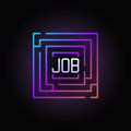 Maze with job colorful icon