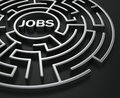 Maze - job search Stock Photo