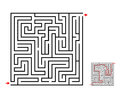 Maze and labyrinth game, vector design on white Royalty Free Stock Photo
