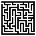 Maze labyrinth vector illustration of black wall on white background Royalty Free Stock Image